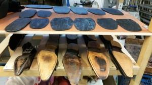 cordonnerie,pose de patins de protection